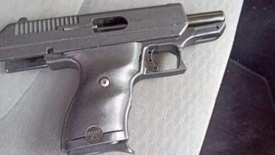 pistola asegurada
