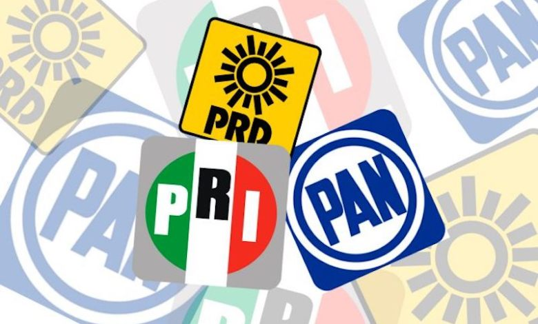 Los suspirantes, PAN,PRI, PRD
