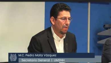 Pedro Mata Vázquez,UMSNH