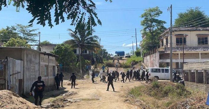 enfrentamiento, Veracruz