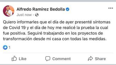Alfredo Ramírez Bedolla, Facebook, COVID-19