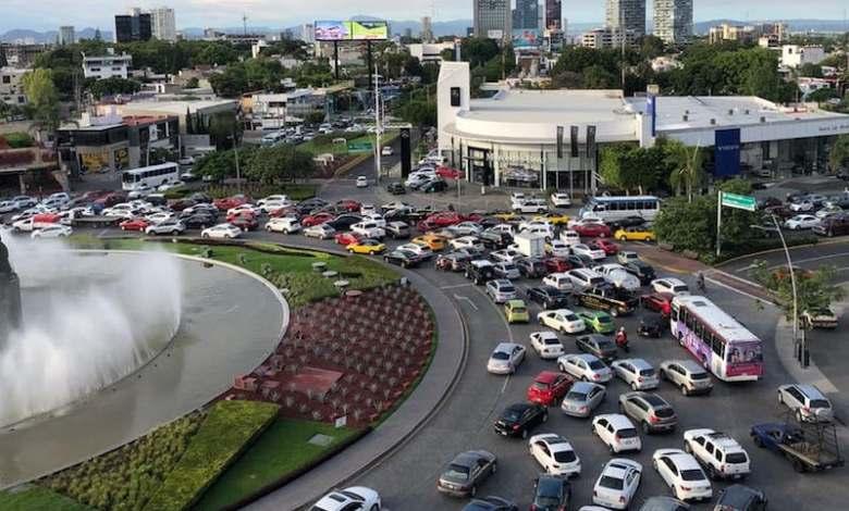 tráfico vehicular,Guadalajara,La Minerva