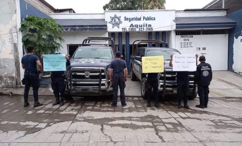 protesta, Policía Michoacán, Aquila