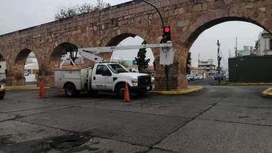 semáforo, arreglos, Avenida Acueducto, Morelia