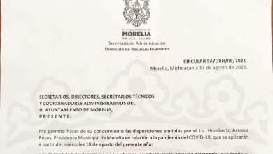 oficio Morelia