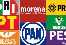 logos, partidos políticos, Los suspirantes