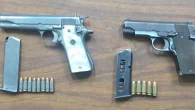 pistolas aseguradas