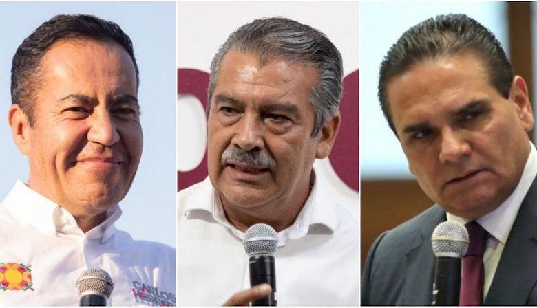 Los suspirantes, Carlos Herrera, Raúl Morón, Silvano Aureoles
