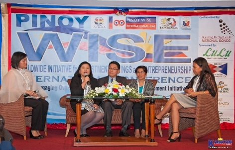 Plenary Session during the PinoyWISE Conference. Director Mai Dizon- Anonuevo- Atikha Executive Director and CMD Co- chair shared migration programs and services of Atikha