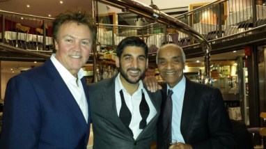 With Paul Young and Kenny Lynch