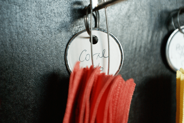 zipper organization and label
