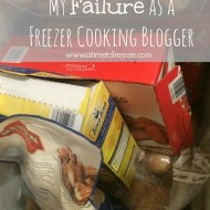 My Failure as a Freezer Cooking Blogger