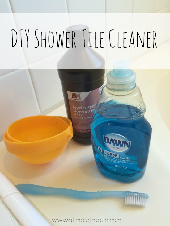 diy bathroom tile cleaner diy shower tile cleaner just 2 ingredients a time to 18145