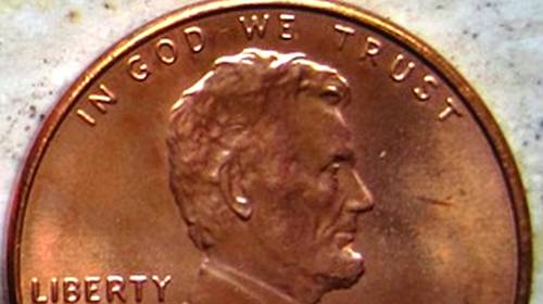 in god we trust lincoln head penny