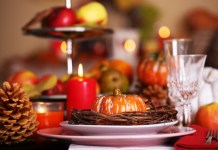 Set the atmosphere with Thanksgiving centerpieces.