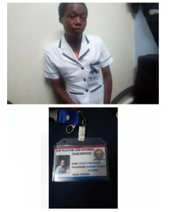 Hillary Kiprotich photo and ID as nurse