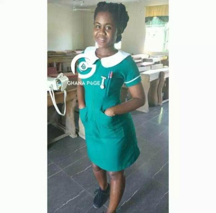 Photo of nursing trainee who buys mama Gee's charm