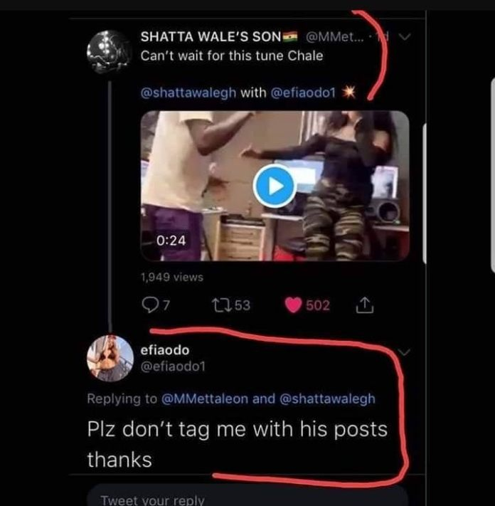 Stop Tagging Me Under Shatta Wale's Post, I Dont Know Him – Efia Odo 1