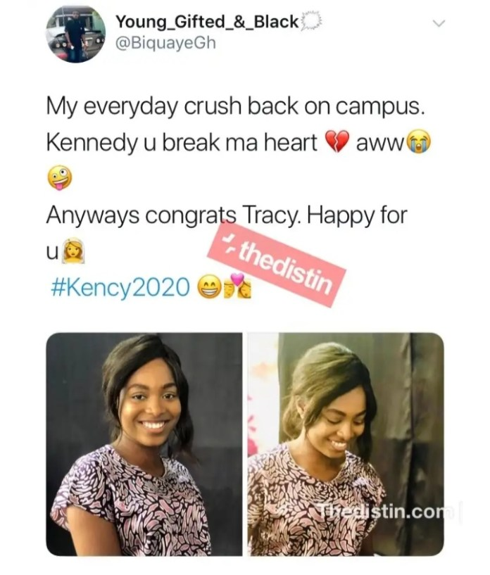 Kennedy Osei and Tracy Finally Outdoors Their Adorable
