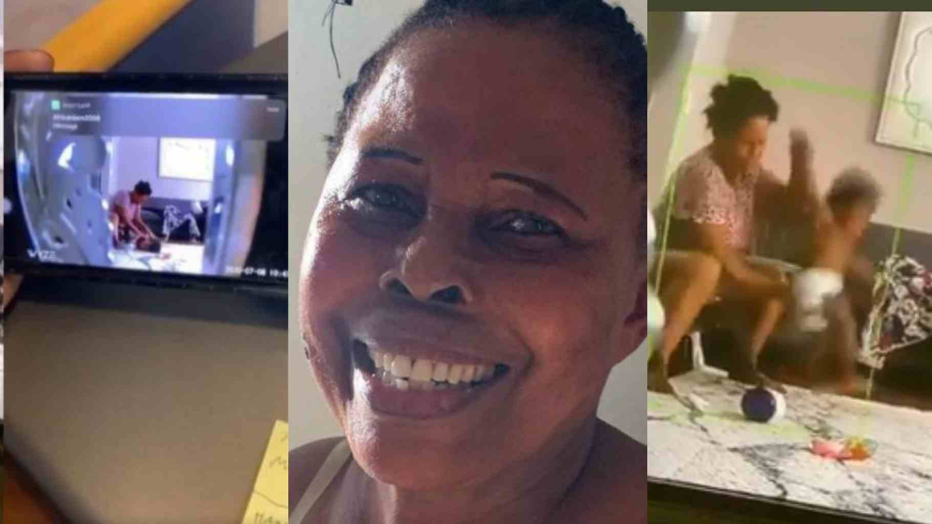 A nanny cam caught a Utah woman kicking, hitting and