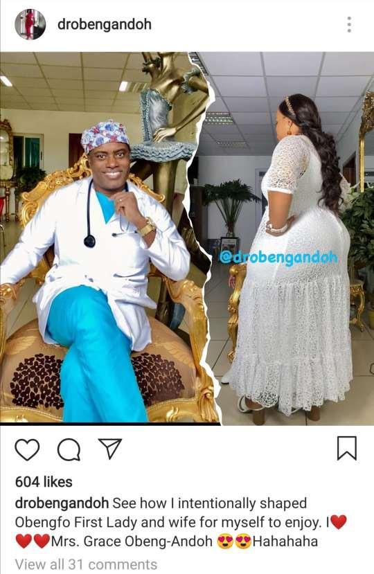Dr Obengfo wife