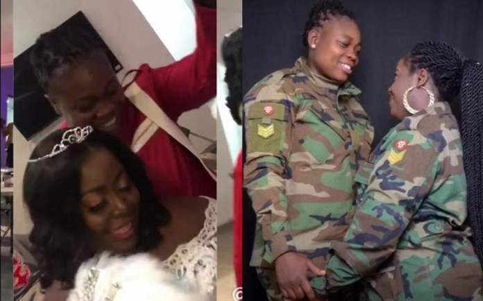 Ghanaian military lesbian couple