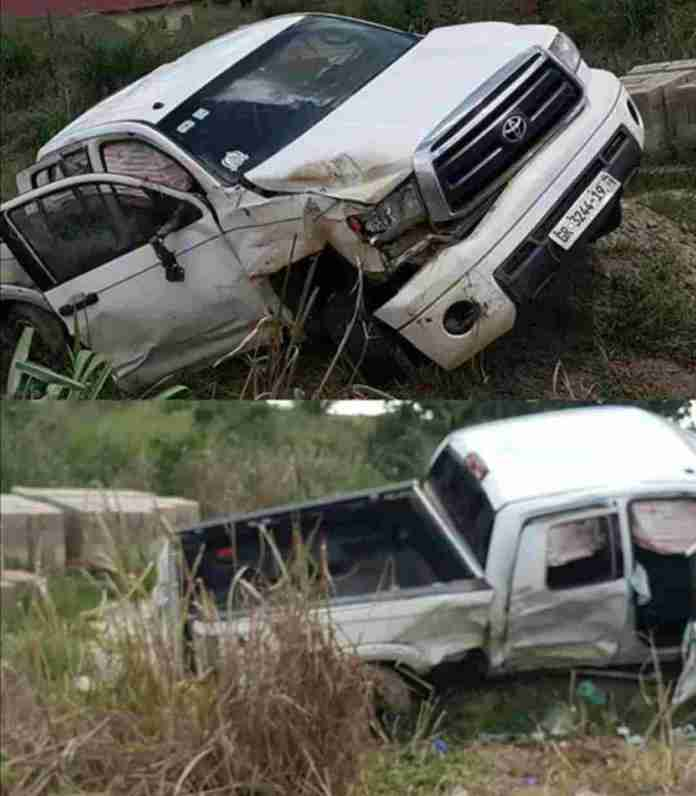 Yaw Sarpong accident photos