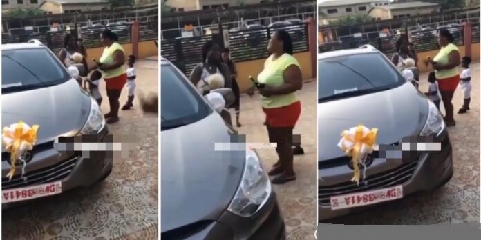 Parents buy brand new car for their daughter