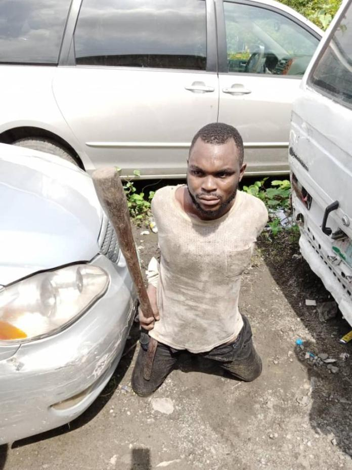 Bus driver uses pestle to break the head of a road official