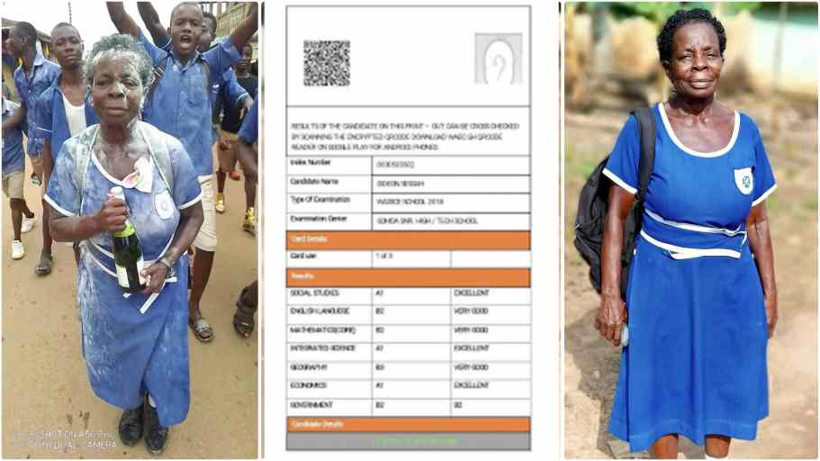 Elizabeth Yamoah: Results of Grandma who sat for 2020 BECE finally hits  online | The News GH
