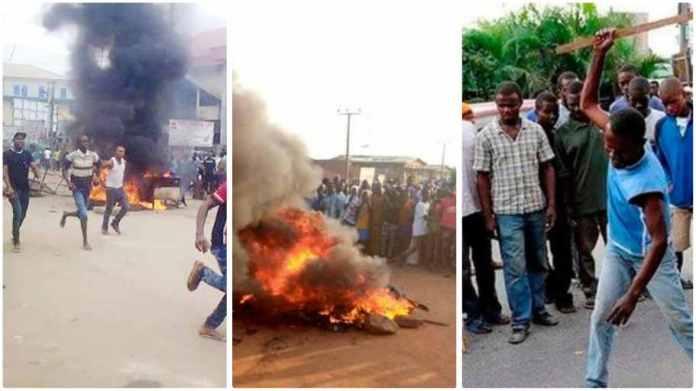 armed robber  set ablaze in Karaga