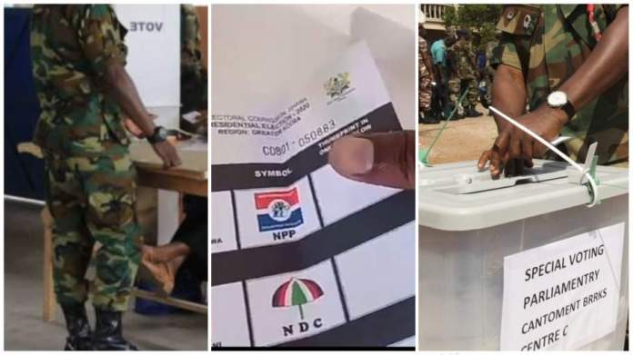 Military man records himself Voting