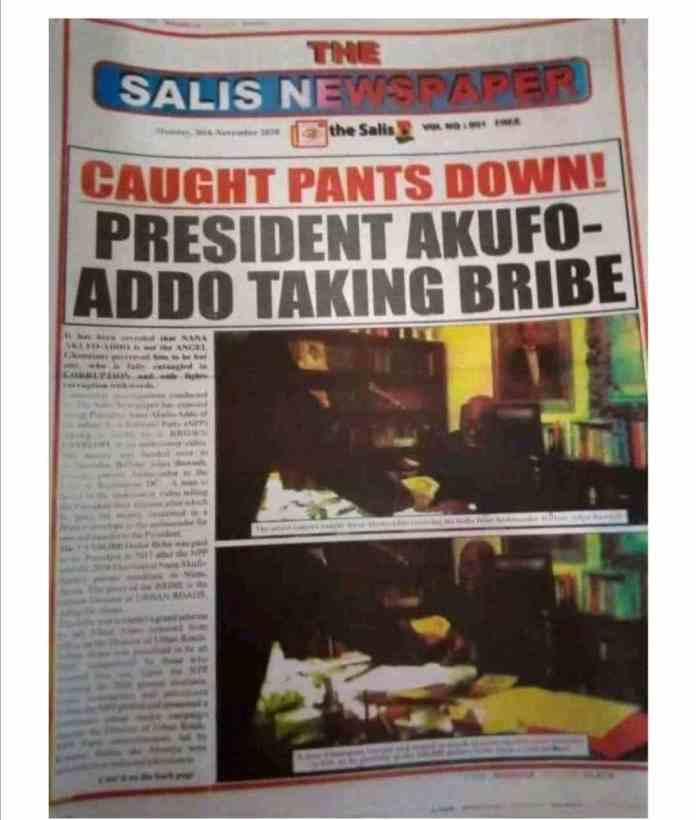 Akufo Addo bribe video
