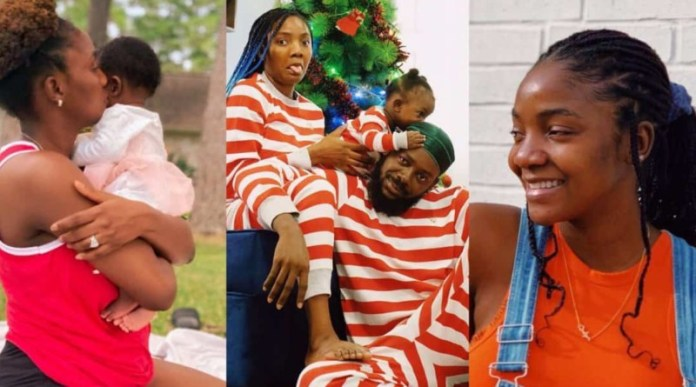 Simi finally explains why she always hides her daughter's face