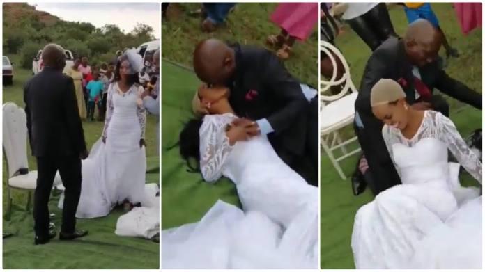 Bride wig falls off