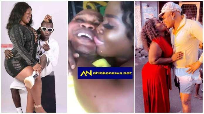 Queen Peezy and Bukom Banku kiss