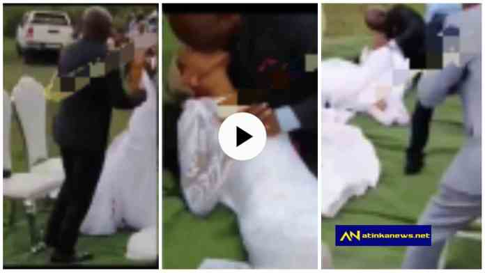 Groom lays Bride on the floor and k!sses