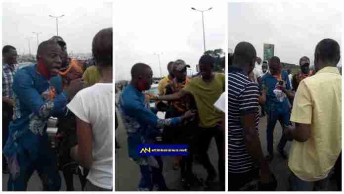 Man caught after snatching phone and handbag