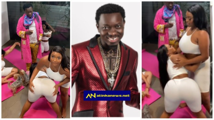 Michael Blackson crowns his Sunday with some heavy duty 'chicks; video goes viral