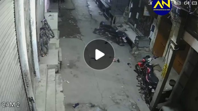 Ghost caught on camera riding a motorbike