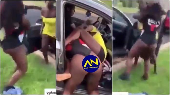 Slay Queens fighting dirty over a man