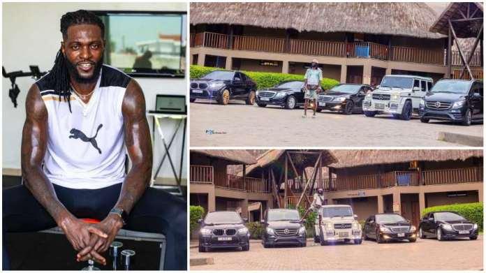 """Break rules and sacrifice"" - Emmanuel Adebayor advises as he flaunts fleet of  his exotic cars"