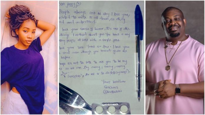 Lady's love letter to Don Jazzy on Valentine's Day