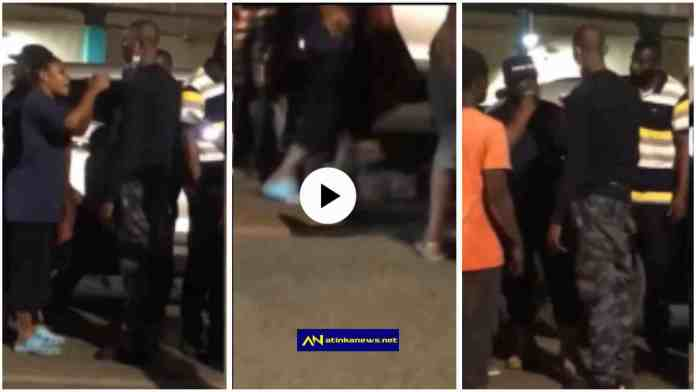Lady slaps Police Officer who was drunk