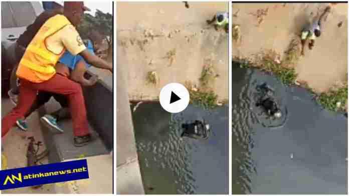 Man pushes policeman