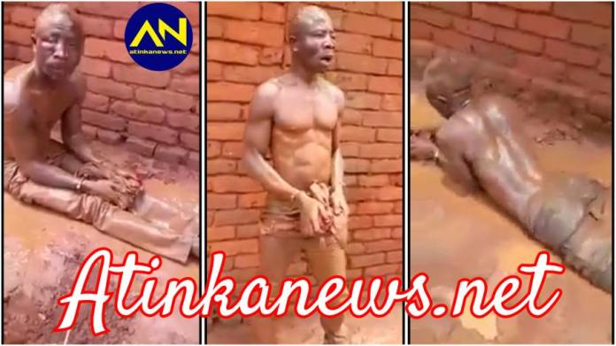 Watch how thief was punished after he was caught red handed stealing