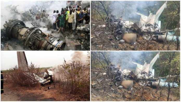 Nigerian military aircraft named King Air 350 has crashed