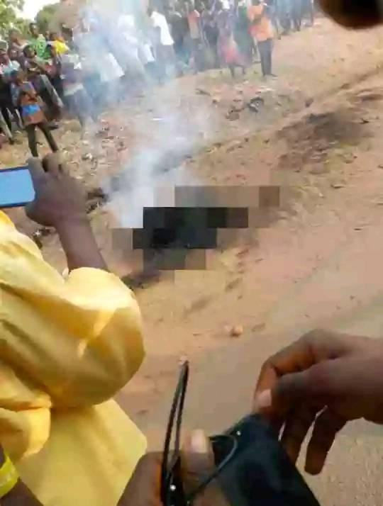 Young Man set ablaze for allegedly stealing