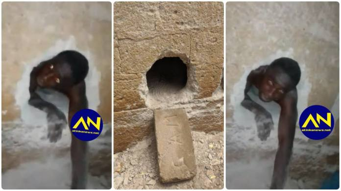 Church burglar trapped inside church