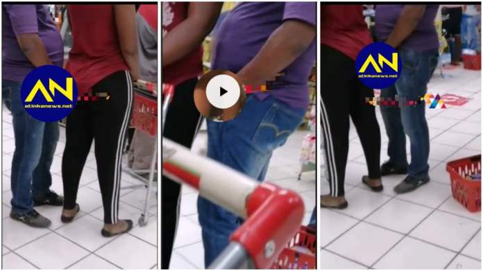 Man caught on camera using black magic to have s.£.x with a woman in a shop